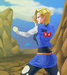 Android 18 by Timur328