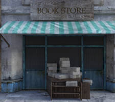 Worn out Bookstore by ThorneArtStudio