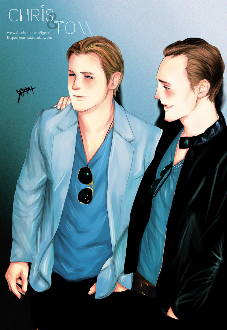 Chris Hemsworth Tom Hiddleston by l3earFat on DeviantArt