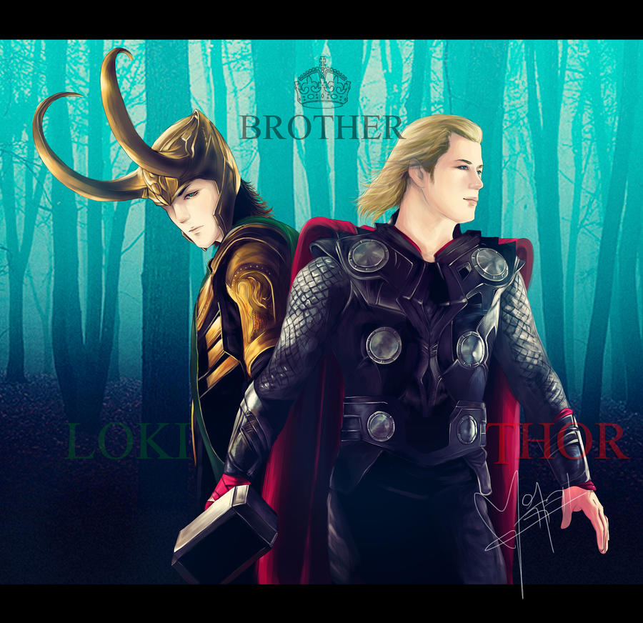 [ Avengers ] THOR - LOKI _ Brother by l3earFat on DeviantArt