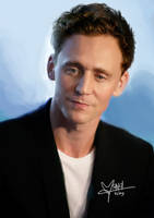 Tom Hiddleston painting by l3earFat