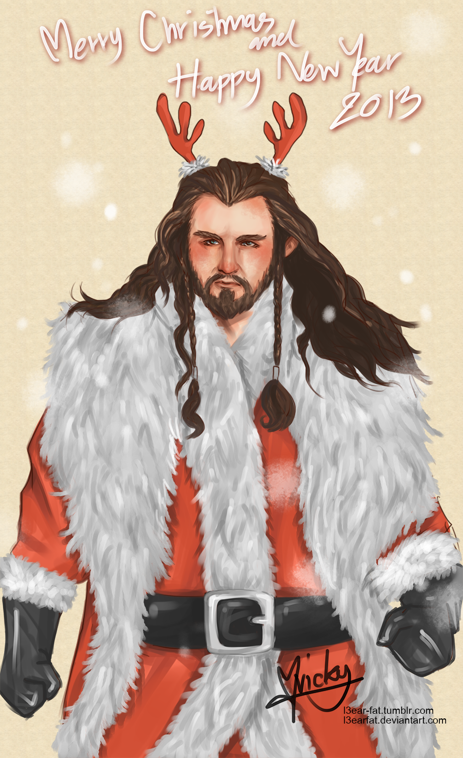 THE HOBBIT:merry christmas and happy new year 2013 by l3earFat on ...