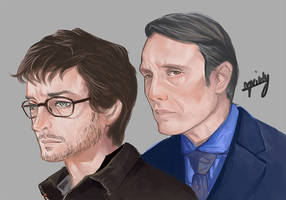 Hannibal - Hannibal Lecter and Will graham by l3earFat