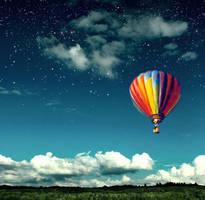 hot air balloon by matthey