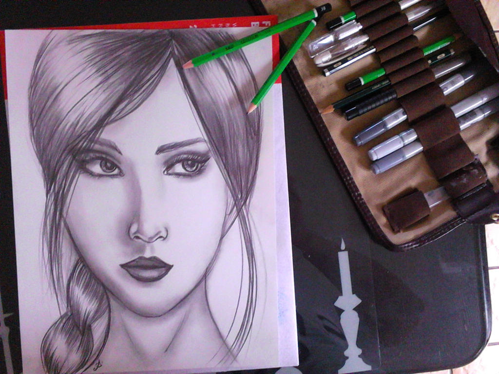 women drawing pencil by AureliaRoux