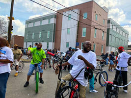 A crowd in Treme