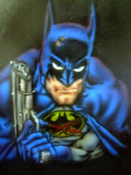 Airbrushed Batman by mavensupreme