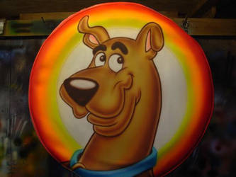 ScoobyDoo Airbrushed TireCover by mavensupreme