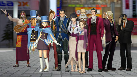 Ace Attorney models pack for SFM by 8Yaron8