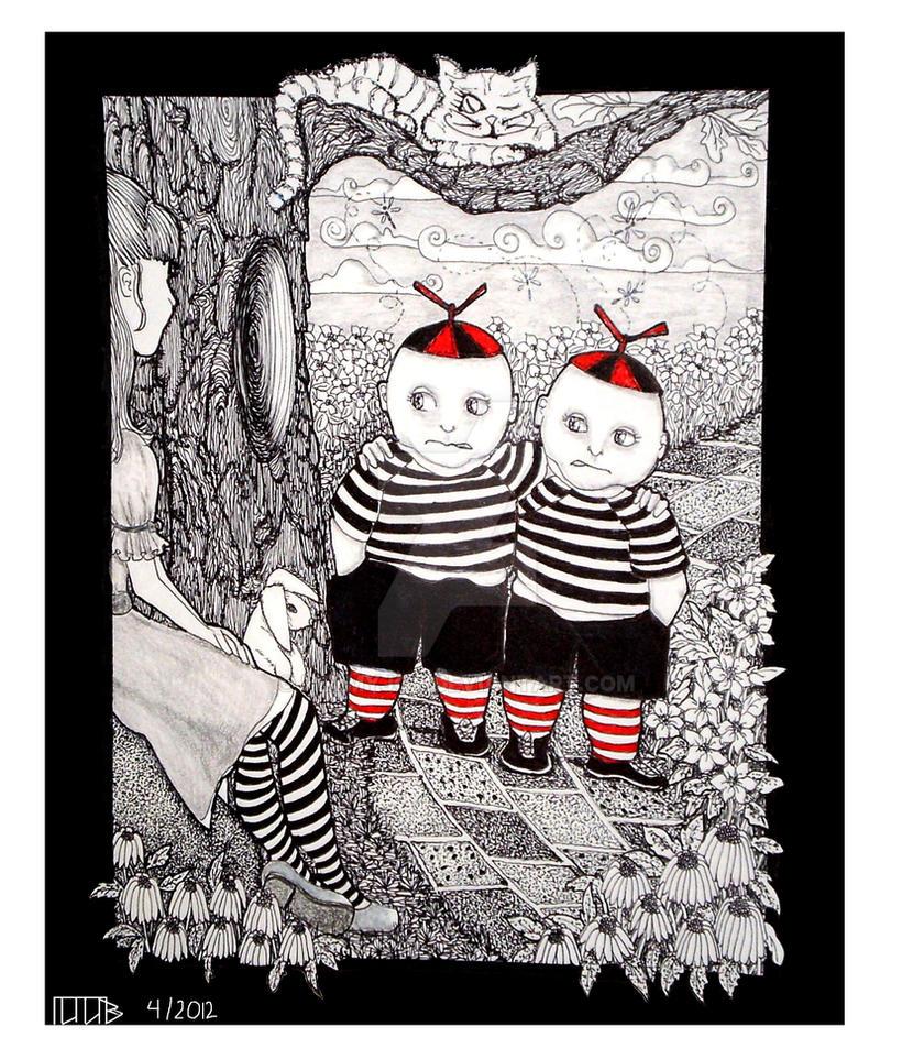 The Tweedles by hezmyjoy