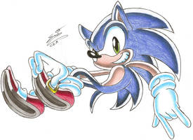 Sonic the Hedgehog :colored: by ChibiEmiAlvi