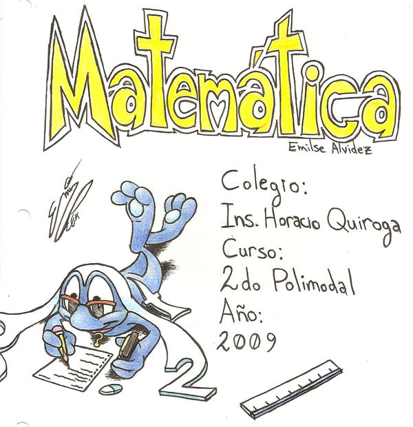 Caratula de Matematica by ChibiEmiAlvi