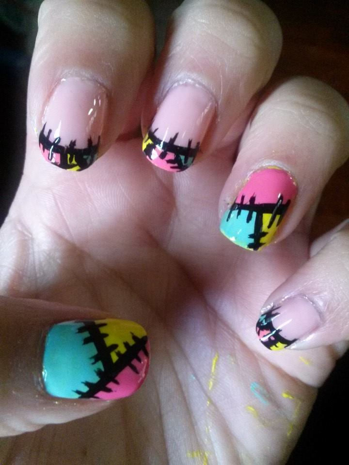 Sally French Tips Nails by sgalea333 on DeviantArt