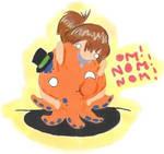 eating mr octopus