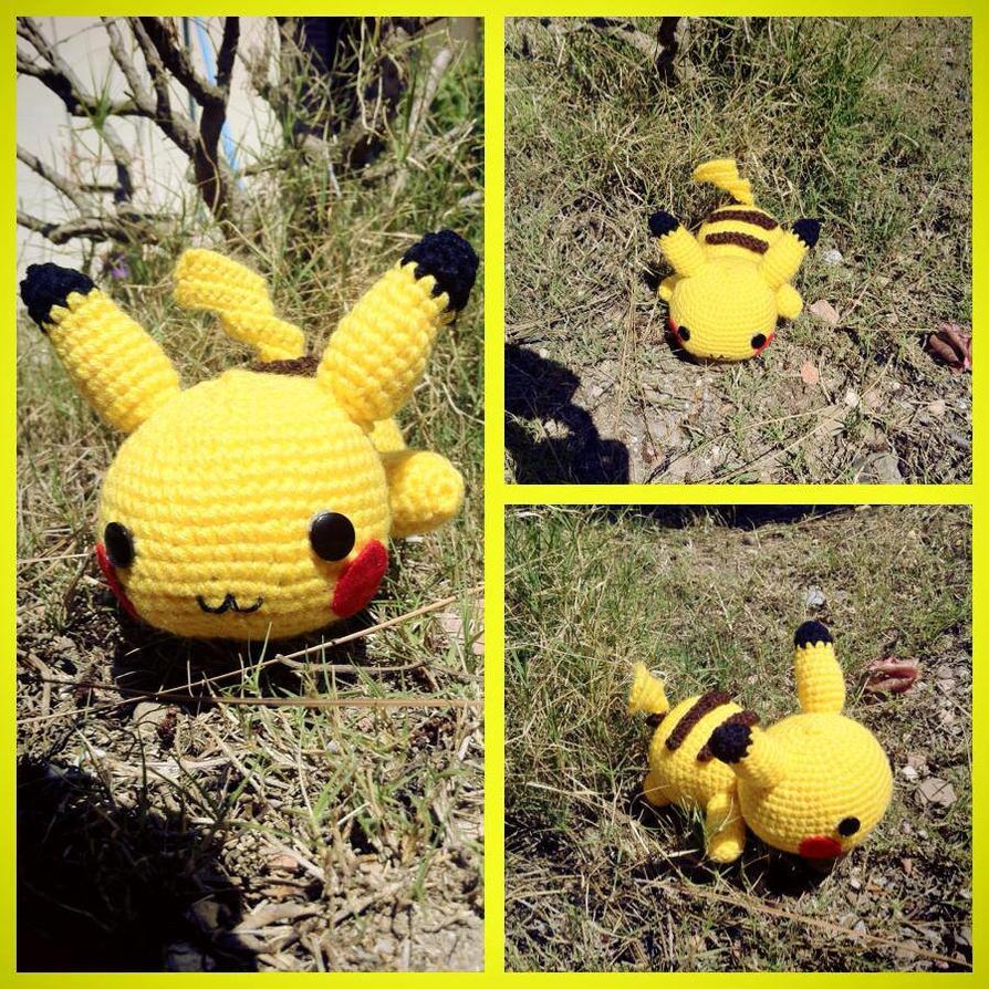 Chibi Pikachu Amigurumi : Chibi Pikachu Amigurumi by myachan91 on DeviantArt