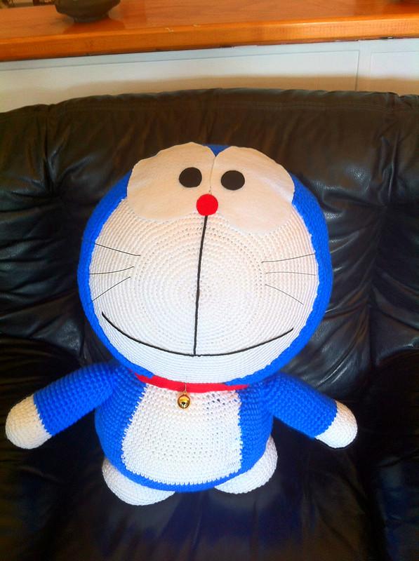 Amigurumi Doraemon Tutorial : Doraemon 60cm Amigurumi by myachan91 on deviantART