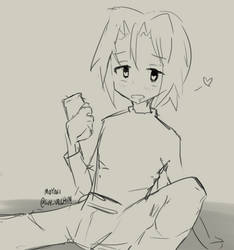 Drunk Kojirou/James by soy-urchin