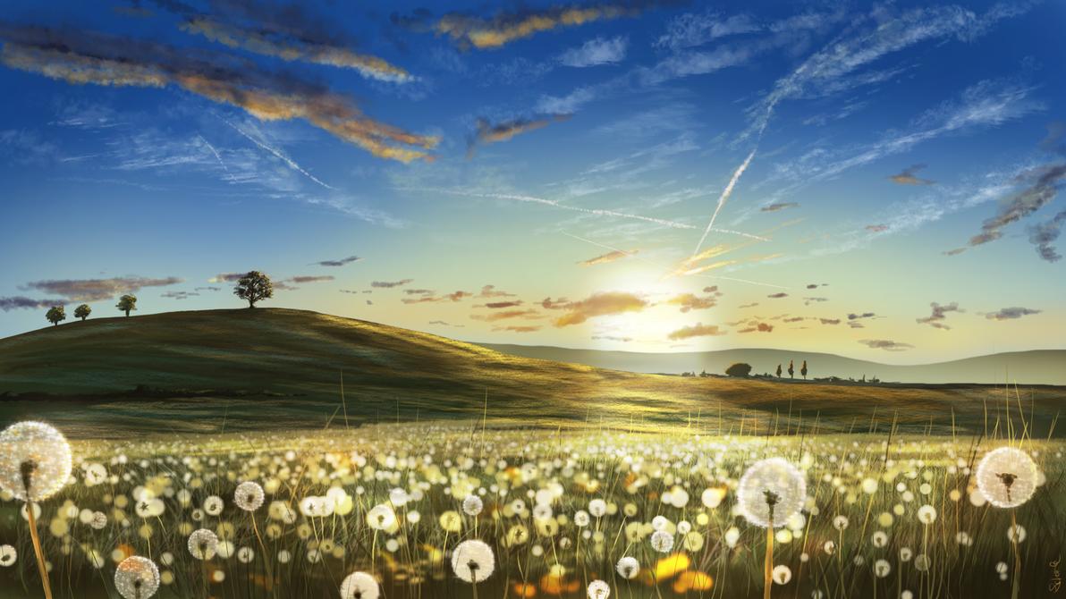 Summer Landscape by Scharle