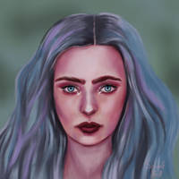 Blue Haired Girl by Scharle