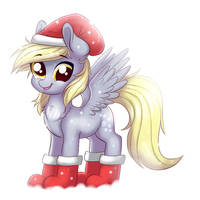 Derpy's Christmas Socks by RavenSunArt