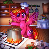 Cookin up a Storm by RavenSunArt