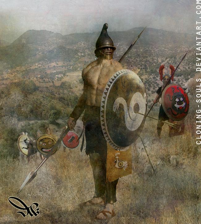 phrygian hoplite by cloning-souls