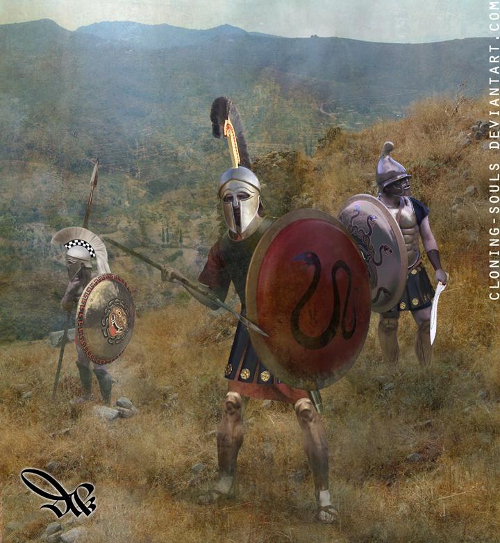 corinthian hoplite by cloning-souls