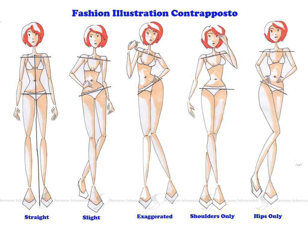 Contrapposto for Fashion Illustration by Sufon