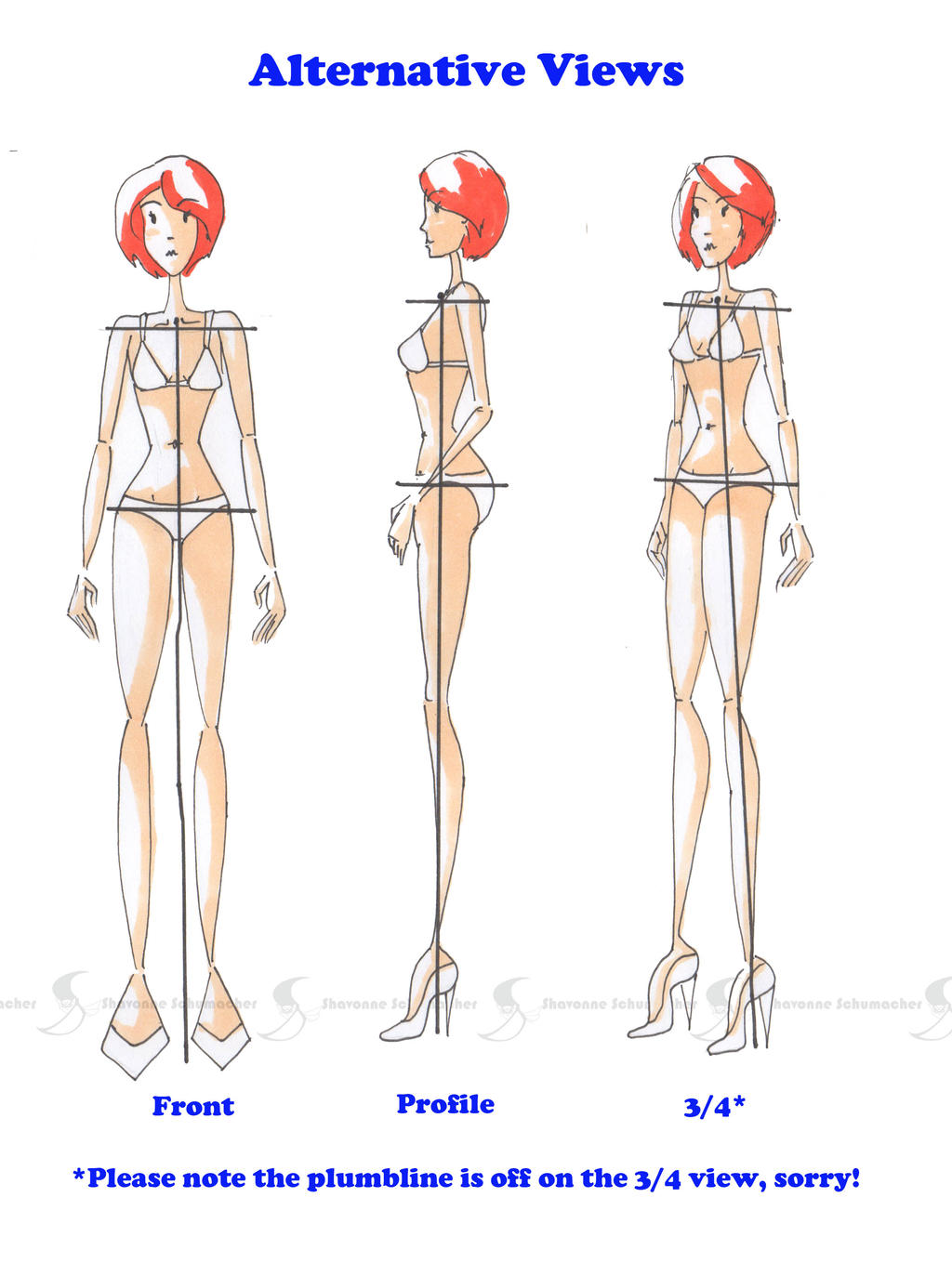 Alternate Fashion Pose Views by Sufon