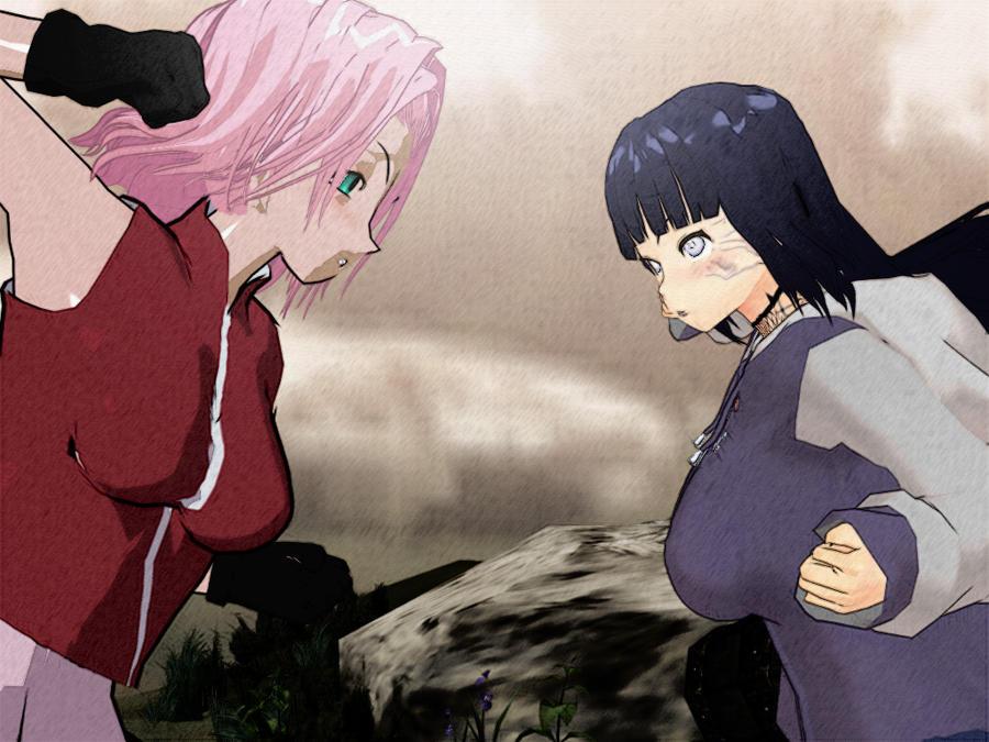Sakura and hinata 3d dancing naruto bouncing boobs 5