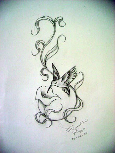 hummingbird design tattoo by gilrizzo
