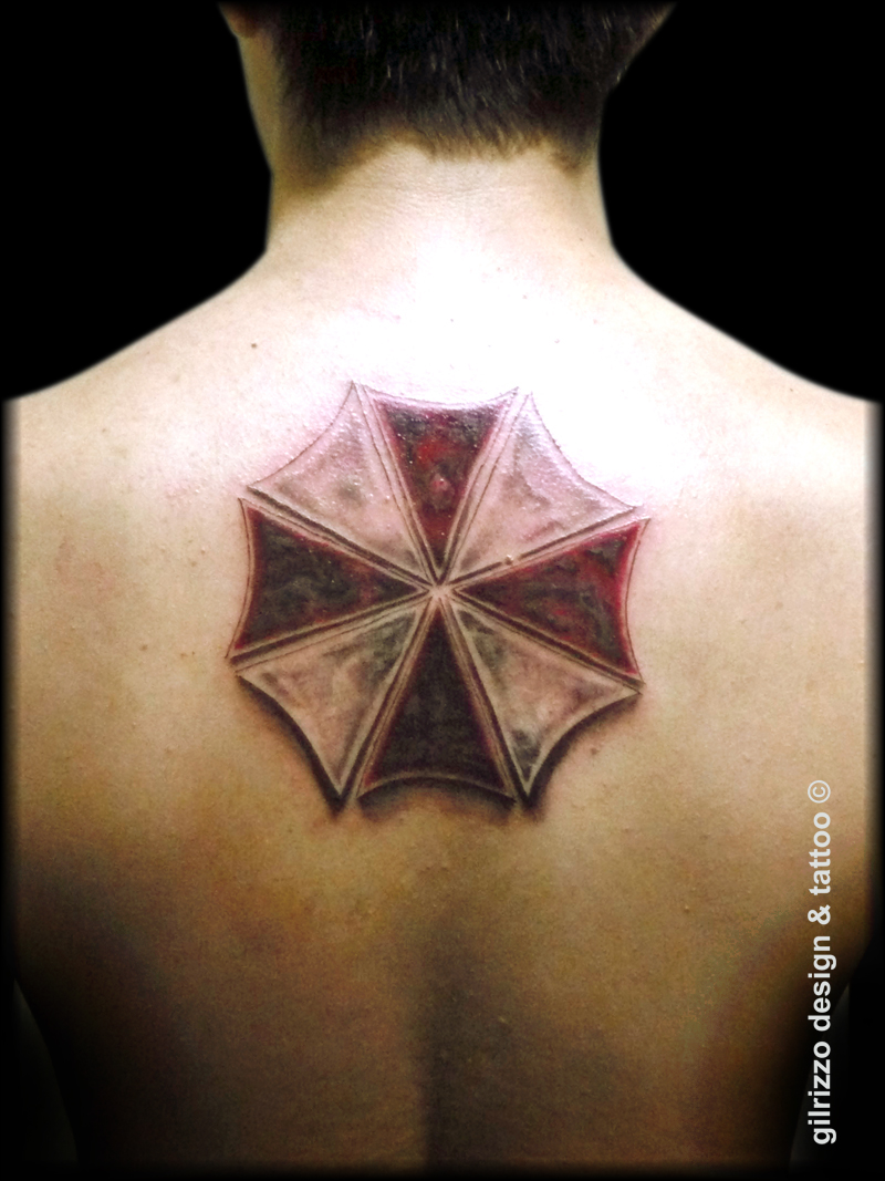 Farbe Weiß In Tattoos Umbrella Logo Tattoomotive Tattooscout