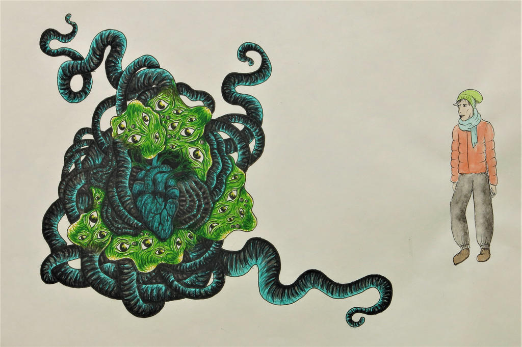 Shoggoth and Dyer by s0ylentQueen
