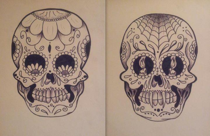 Sugar skulls - good vs. evil by londongirlx