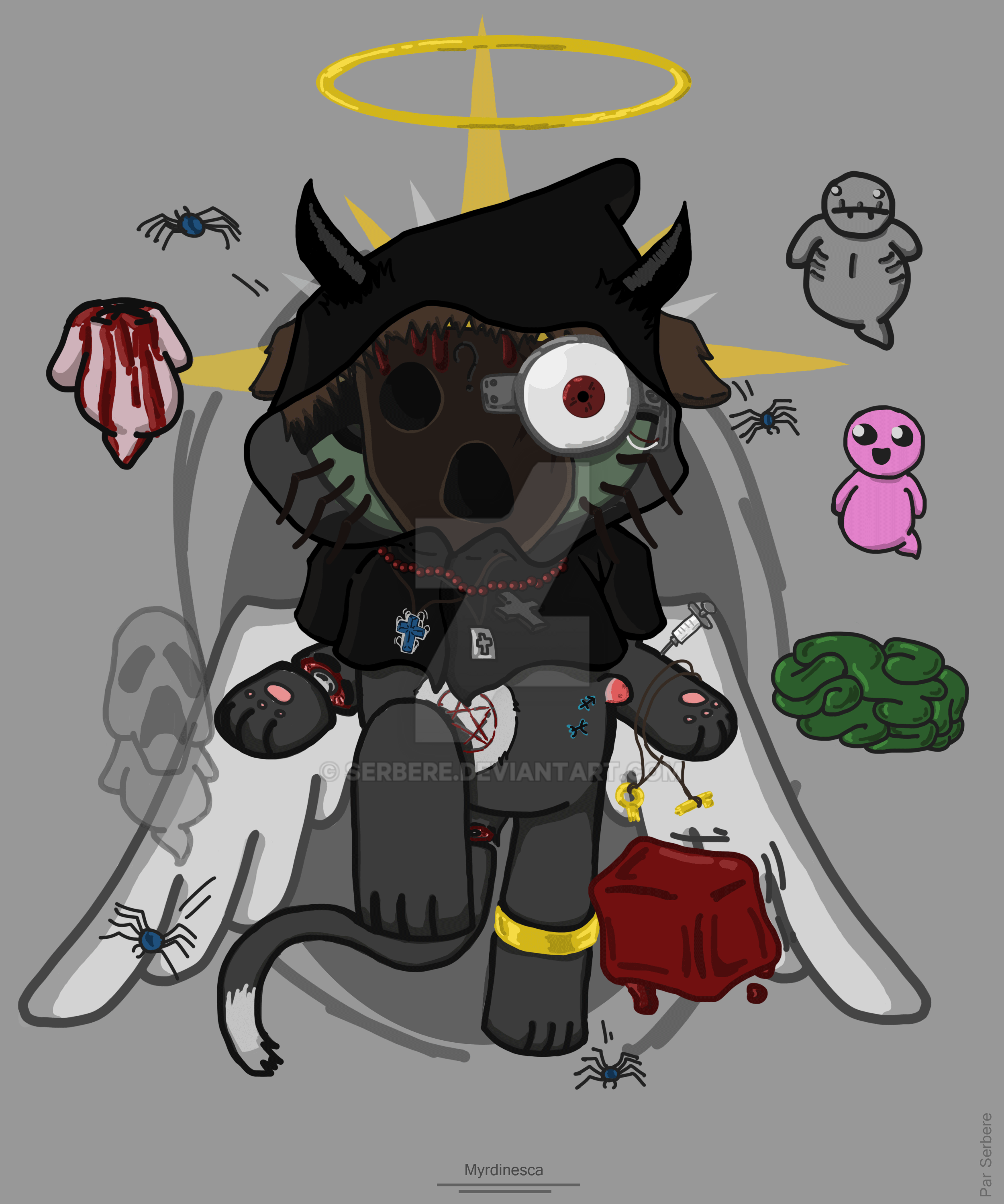 Fan-art -Myrdinesca-The-Binding-of-Isaac-#2 By Serbere On