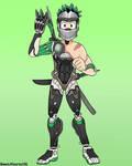 Quirkless Izuku Midoriya become a cyborg ninja.