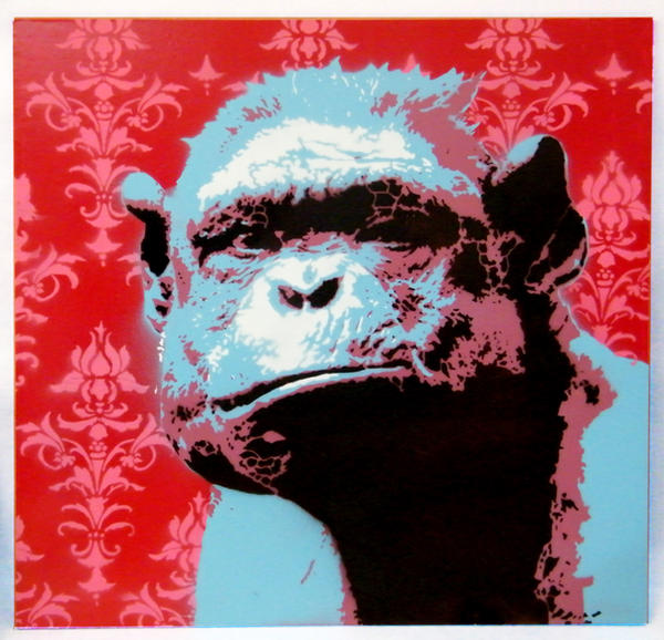 Stencil Monkey by sark-stencil