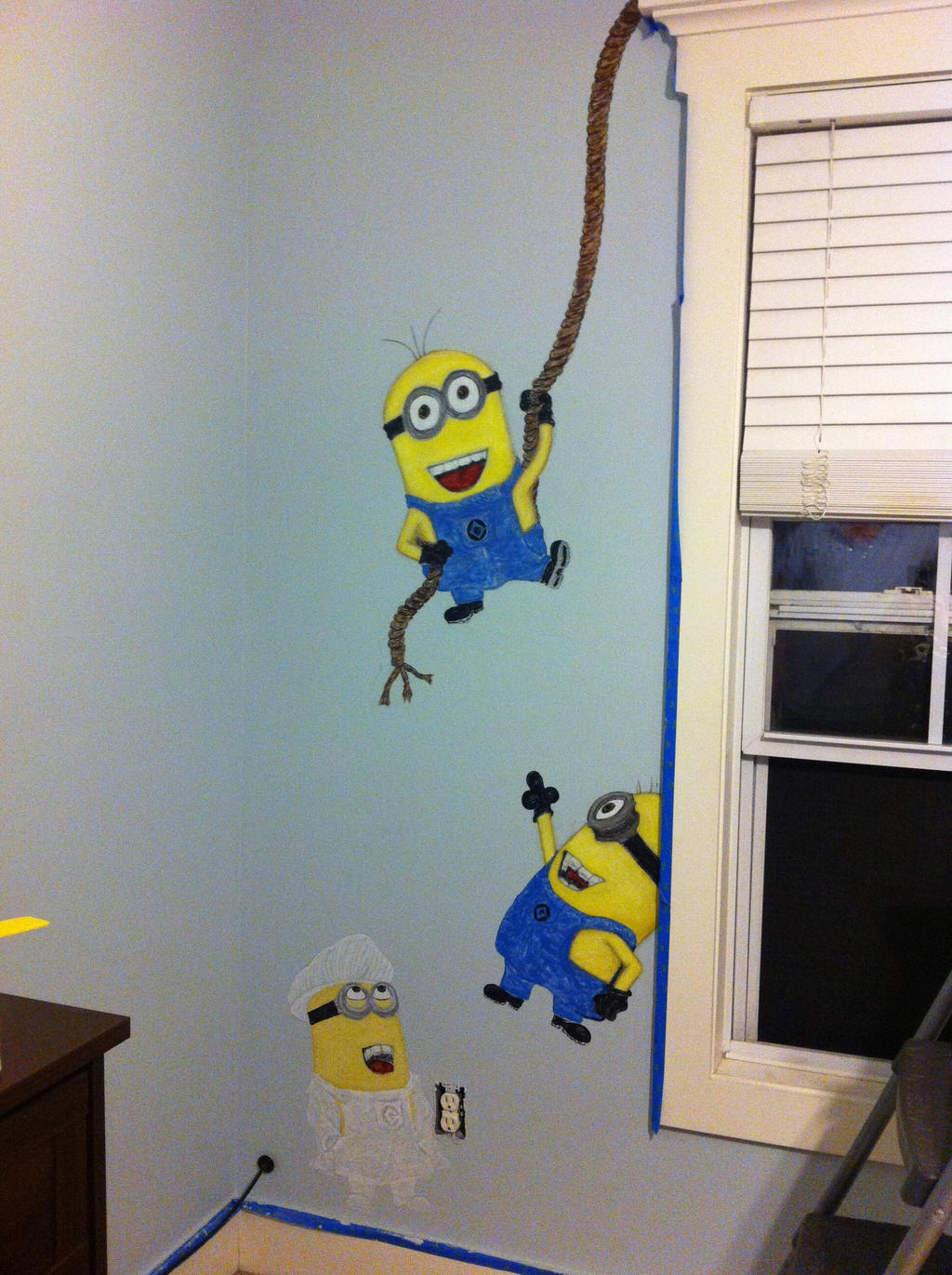 Minions left despicable me minions wall mural by delsiree on minions left despicable me minions wall mural by delsiree amipublicfo Images