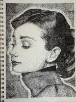 Stipple-Audrey Hepburn by Some-Imagination