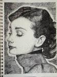 Stipple-Audrey Hepburn