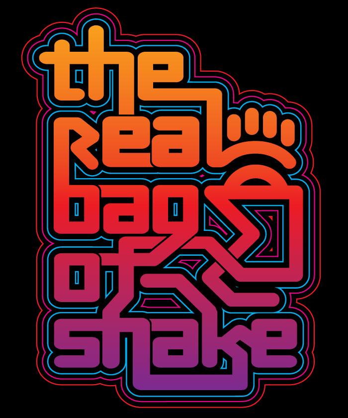 Real bag of Shake typography