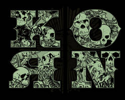 Korn - Skulls in Letters by gomedia