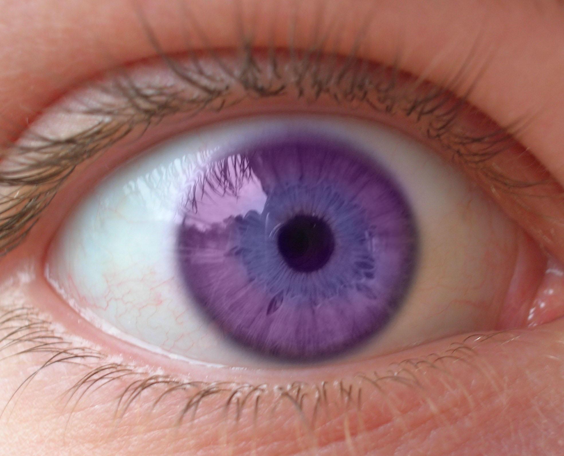 Natural Amethyst Eye Color