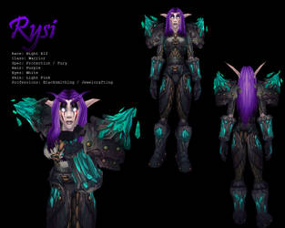 Character Sheet: Rysi by Ryari
