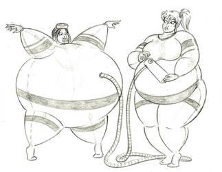 Betty accidentally inflates Kim by FatClubInc