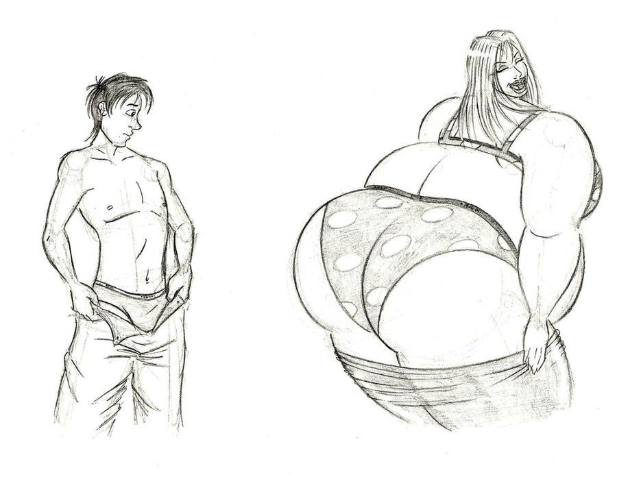Milton vs Stacy underwear match by FatClubInc