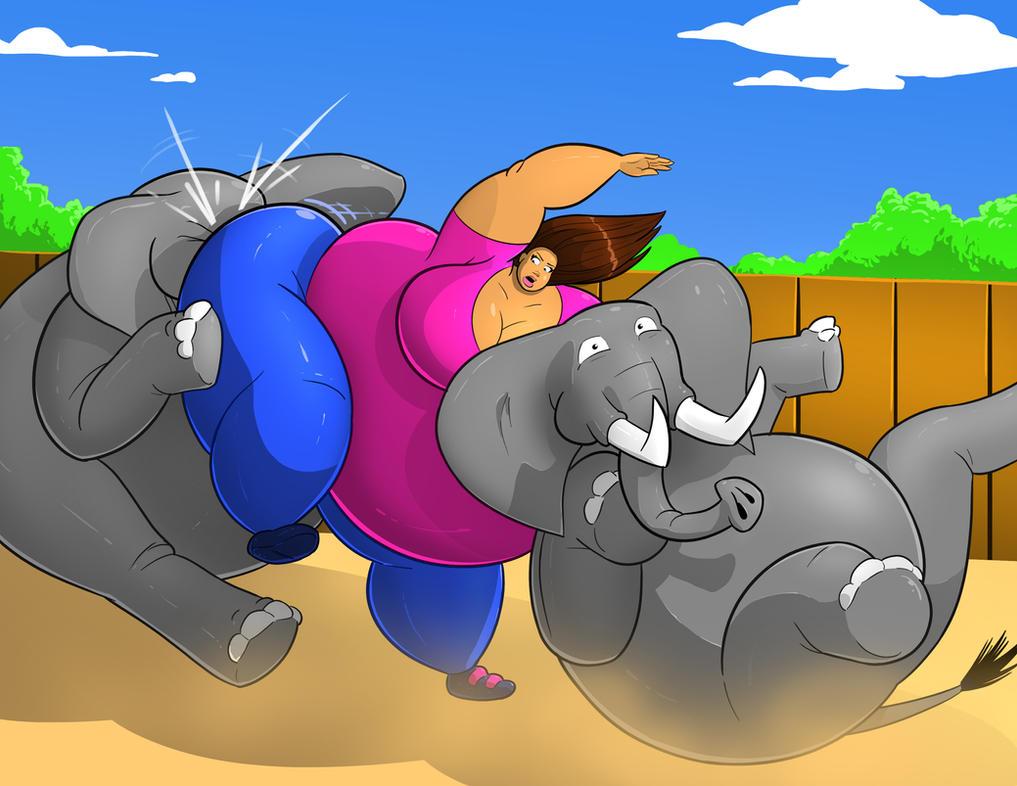 Talula vs the Elephants 6 by FatClubInc