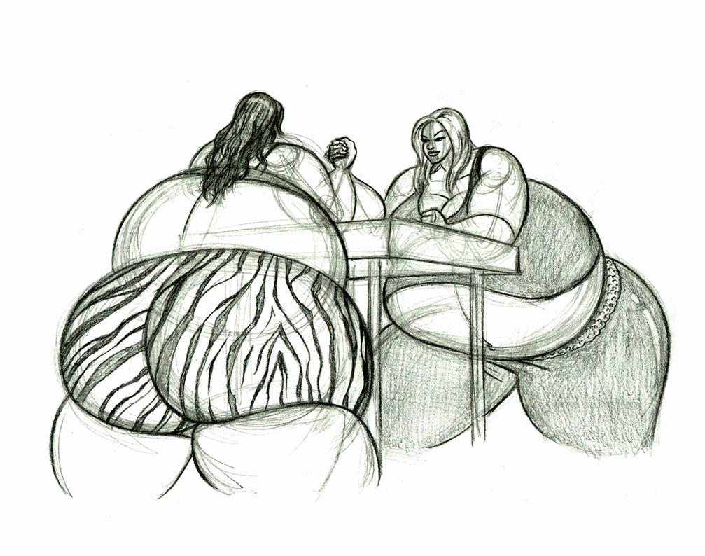 Brandy and Stacy arm wrestle by FatClubInc