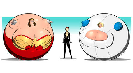 Wonderfully Round Woman and Plump Power Girl