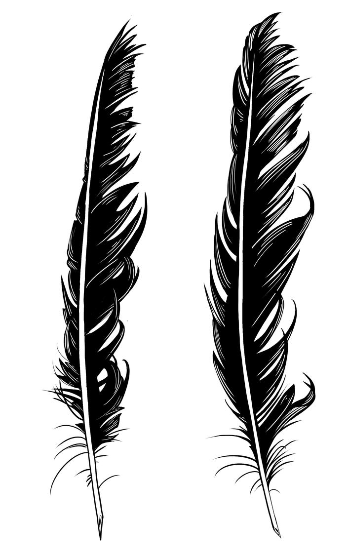 crow feather tattoo designs by dirtyinks on deviantart. Black Bedroom Furniture Sets. Home Design Ideas